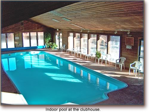 Indoor pool at the clubhouse.